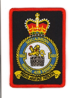 101 SQN CREST BADGE - RECTANGLE