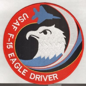 F-15 EAGLE DRIVER XL BADGE