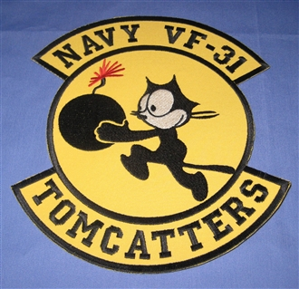 VF-31 TOMCATTERS XL BADGE