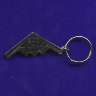 B-2 SPIRIT PLAN VIEW ENAMEL KEYRING