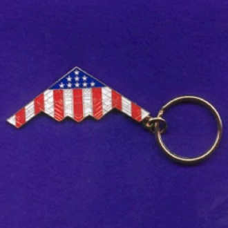 B-2 ENAMEL STARS AND STRIPES KEYRING