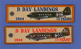 D DAY LANDING EMB KEYRING 75 YEARS