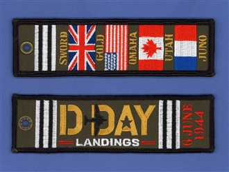 D DAY LANDINGS (FLAGS) EMB KEYRING
