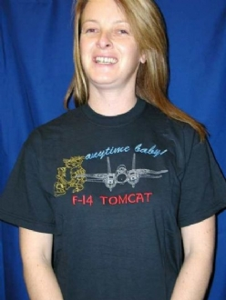 F-14 TOMCAT EMBROIDERED T SHIRT