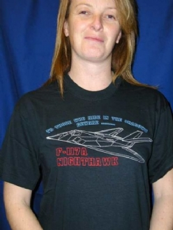 F-117A NIGHTHAWK EMBROIDERED T SHIRT