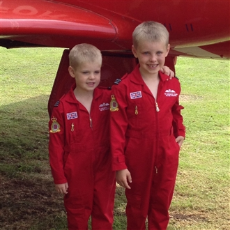 RED ARROWS CHILDRENS REPLICA FLYING SUITS