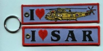 1 LOVE SAR -RAF EMBROIDERED KEYRING
