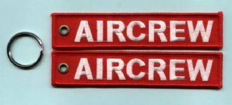 AIRCREW LETTERING EMBROIDERED KEYRING