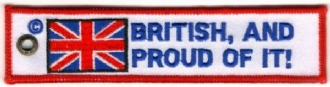 BRITISH AND PROUD EMBROIDERED KEYRING