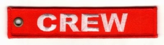 CREW RED & WHITE EMBROIDERED KEYRING