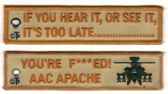AAC APACHE EMBROIDERED KEYRING