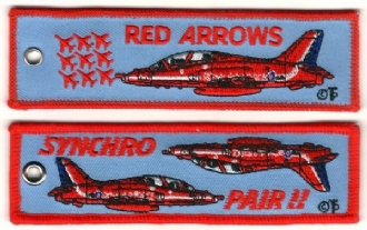RED ARROWS SYNCHRO PAIR KEYRING