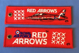 RED ARROWS EMBROIDERED KEYRING