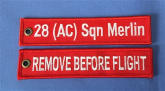 28 SQN / REMOVE BEFORE FLIGHT KEYRING