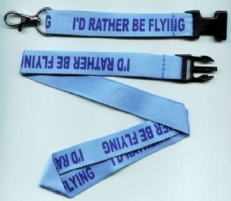 I'D RATHER BE FLYING LANYARD
