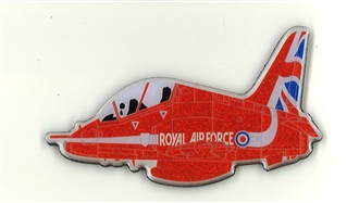 GLITTERY RED ARROWS MAGNET