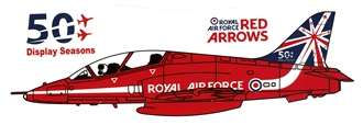 THE RED ARROWS 50th TAIL FIN MUG