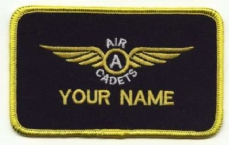 AIR CADETS GLIDING SCHOLARSHIP ADVANCED  WING 1 LINE NAME BADGE