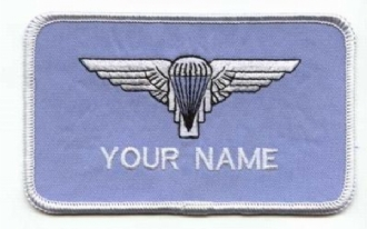 PARCHUTE WING NAME BADGE