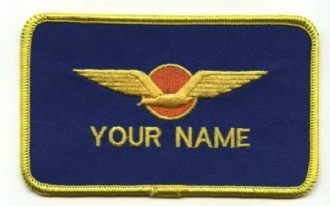DUTCH PILOT NAME BADGE