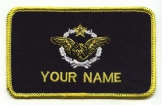 FRENCH AIRFORCE NAVIGATOR NAME BADGE