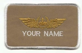 KUWAIT PILOT NAME BADGE
