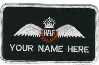 RAF PILOT NAME BADGE