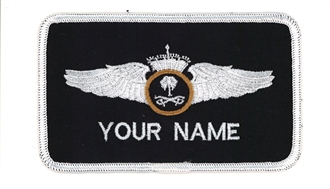 SAUDI PILOT 1 LINE NAME BADGE