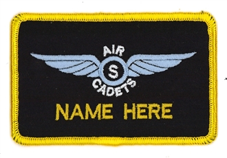 AIR CADETS GLIDING SCHOLARSHIP SOLO WING 1 LINE NAME BADGE