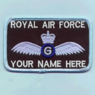 GLIDER PILOT 2 LINES (WITH CROWN) NAME BADGE
