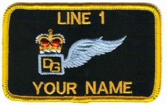 DOOR GUNNER (AAC) NAME BADGE