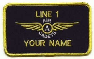 AIR CADETS GLIDING SCHOLARSHIP ADVANCED WING 2 LINE NAME BADGE