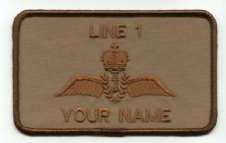 RN PILOT - DESERT NAME BADGE