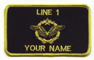 FRENCH AIRFORCE PILOT NAME BADGE