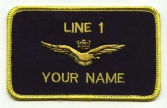ITALIAN PILOT NAME BADGE