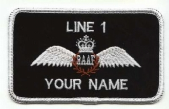 ROYAL AUSTRALIAN PILOT NAME BADGE