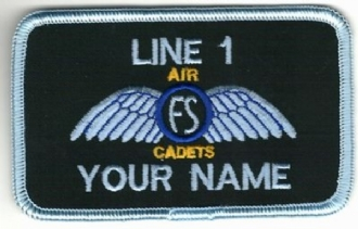 AIR CADETS FLYING SCHOLARSHIP WING NAME BADGE