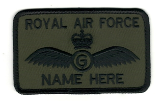 RAF GLIDER PILOT WITH CROWN 2 LINE NAME BADGE