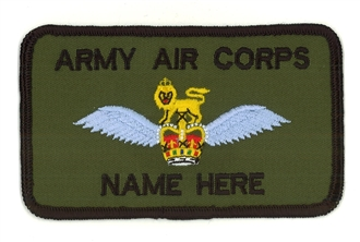 ARMY AIR CORPS / AAC PILOT NAME BADGE 2 LINES