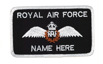 RAF PILOT NAME BADGE WITH KINGS CROWN