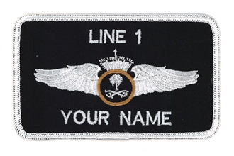 SAUDI PILOT 2 LINE NAME BADGE