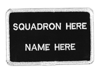 2 LINE NAME BADGE SPACED WITH NO BREVET
