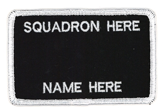 2 LINE NAME BADGE WITH NO BREVET