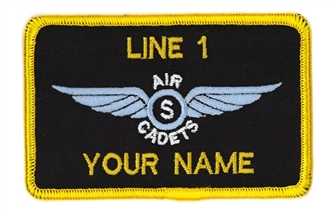 AIR CADETS GLIDING SCHOLARSHIP SOLO WING 2 LINE NAME BADGE