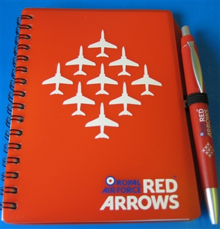 RED ARROWS NOTEBOOK & PEN