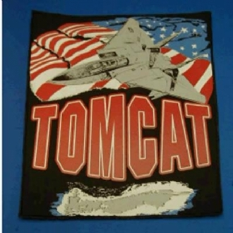 PRINTED TOMCAT LOGO WITH USA FLAG XL BACK PATCH