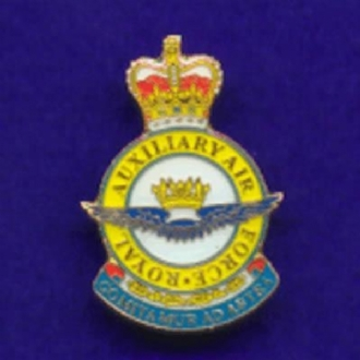 ROYAL AUXILLIARY AIR FORCE CREST PIN BADGE