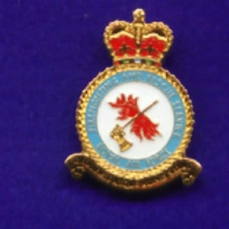 RAF FIRE AND RESCUE CREST PIN BADGE