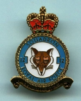 12 SQN CREST PIN BADGE