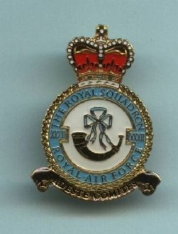 32 SQN CREST PIN BADGE